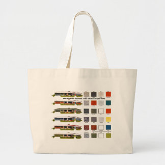 Retro Vintage Kitsch Suburbs Approved House Colors Large Tote Bag