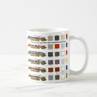 Retro Vintage Kitsch Suburbs Approved House Colors Mugs