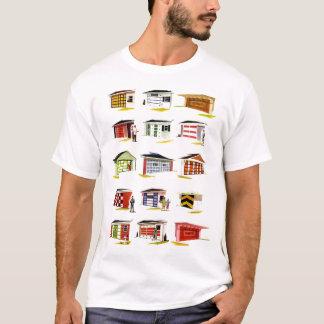 Retro Vintage Kitsch Sunurbs Garage Door Options T-Shirt