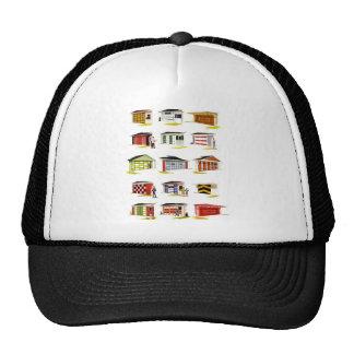 Retro Vintage Kitsch Sunurbs Garage Door Options Trucker Hat