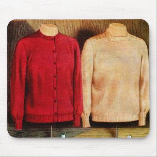 Retro Vintage Kitsch Surrealism Sweaters Catalog Mouse Pad