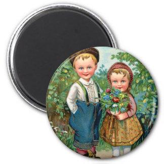 Retro Vintage Kitsch Sweden Norway HjarHiq Grat Magnet