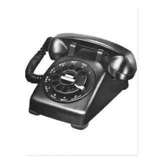 Retro Vintage Kitsch Telephone Model 500 Rotary Postcard