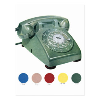 Retro Vintage Kitsch Telephone Phone Model 500 Postcard