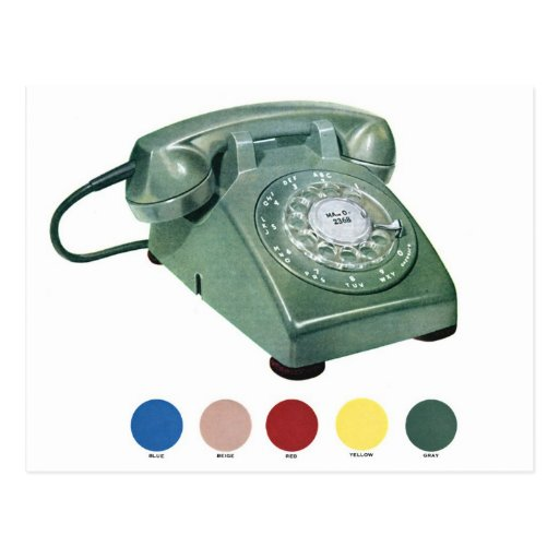 Retro Vintage Kitsch Telephone Phone Model 500 Post Card