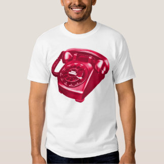 Retro Vintage Kitsch Telephone The Red Phone T-shirt