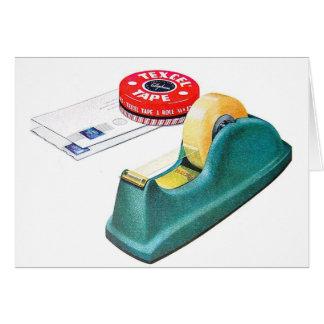 Retro Vintage Kitsch Texcel Cellophane Tape Card
