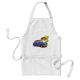 Retro Vintage Kitsch The Great Sunday Drive Adult Apron