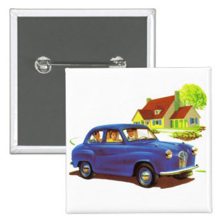 Retro Vintage Kitsch The Great Sunday Drive Button