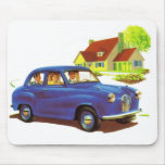 Retro Vintage Kitsch The Great Sunday Drive Mouse Pad