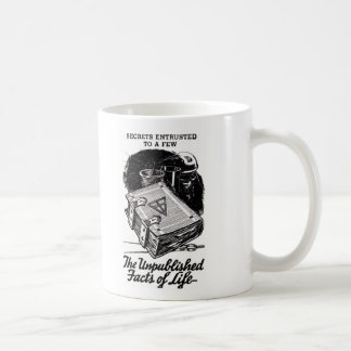 Retro Vintage Kitsch The Unpublished Facts of Life Coffee Mug