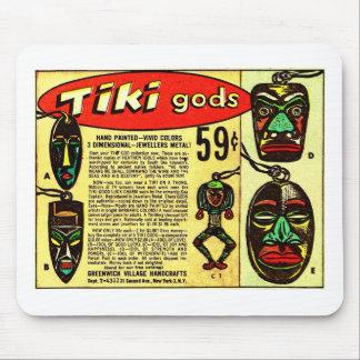 Retro Vintage Kitsch Tiki Gods Comic Ad Mouse Pad