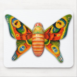 Retro Vintage Kitsch Tin Butterfly Toy Mouse Pad