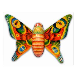 Retro Vintage Kitsch Tin Butterfly Toy Postcard