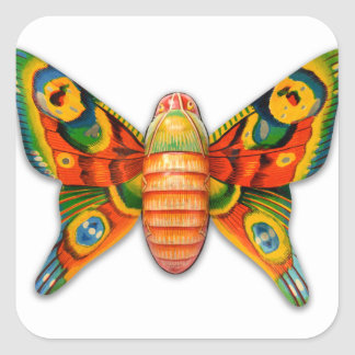 Retro Vintage Kitsch Tin Butterfly Toy Stickers