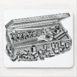 Retro Vintage Kitsch Tools Early Socket Set Mouse Pad