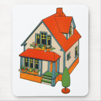 Retro Vintage Kitsch Toy Catalog Toy House Mouse Pad