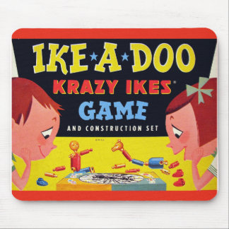 Retro Vintage Kitsch Toy Krazy Ike's Ike-A-Doo Mouse Pad