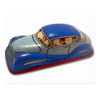 Retro Vintage Kitsch Toy Tin Car Made in Japan Postcard