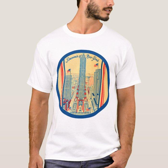 Retro Vintage Kitsch Travel Souvenir of New York T-Shirt