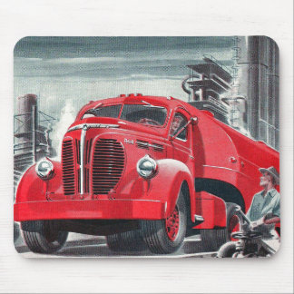 Retro Vintage Kitsch Truck Ad Illustration Mouse Pad