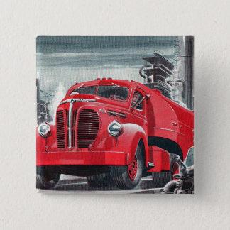 Retro Vintage Kitsch Truck Ad Illustration Pinback Button