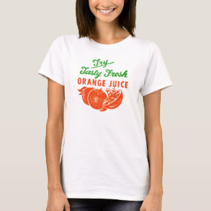 Retro Vintage Kitsch Try Tasty Fresh Orange Juice T-Shirt