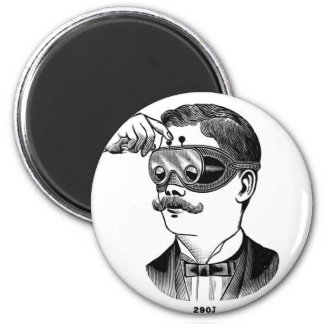 Retro Vintage Kitsch 'Tunnel Vision Goofy Glasses' Magnet