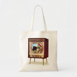 Retro Vintage Kitsch TV Color Television Set Tote Bag