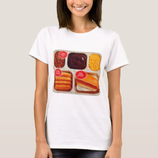 Retro Vintage Kitsch TV Dinner Now Bigger Hot Dog T-Shirt