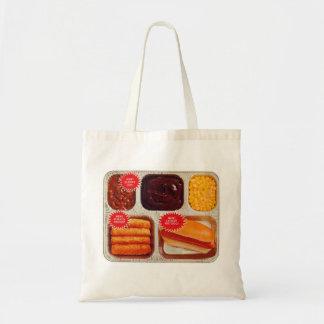 Retro Vintage Kitsch TV Dinner Now Bigger Hot Dog Tote Bag
