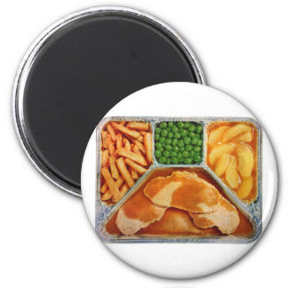 Retro Vintage Kitsch TV Dinner Pork Loin Magnet