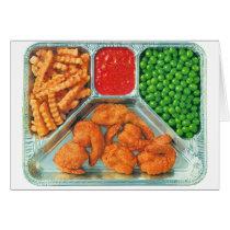 Retro Vintage Kitsch TV Dinner 'Shrimp' Card
