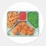 Retro Vintage Kitsch TV Dinner 'Shrimp' Classic Round Sticker