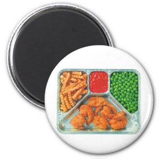 Retro Vintage Kitsch TV Dinner 'Shrimp' 2 Inch Round Magnet
