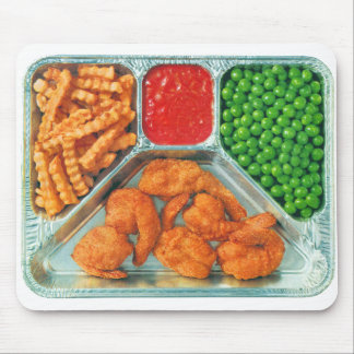 Retro Vintage Kitsch TV Dinner 'Shrimp' Mouse Pad