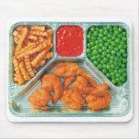 Retro Vintage Kitsch TV Dinner 'Shrimp' Mousepads