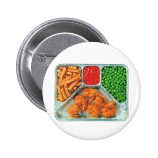 Retro Vintage Kitsch TV Dinner 'Shrimp' Pinback Button
