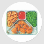 Retro Vintage Kitsch TV Dinner 'Shrimp' Sticker