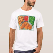 Retro Vintage Kitsch TV Dinner 'Shrimp' T-Shirt