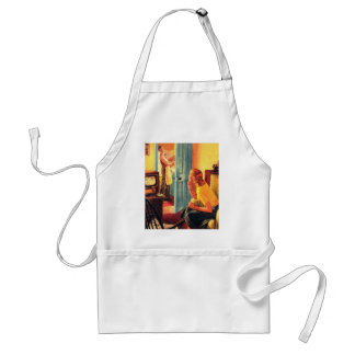 Retro Vintage Kitsch TV Television Early TV Viewer Adult Apron
