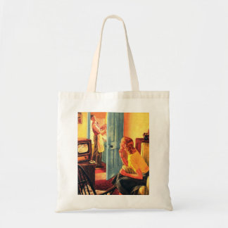 Retro Vintage Kitsch TV Television Early TV Viewer Tote Bag