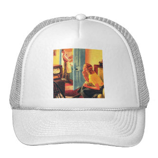 Retro Vintage Kitsch TV Television Early TV Viewer Trucker Hat