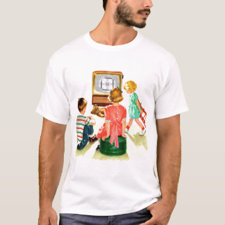 Retro Vintage Kitsch TV Television Kids T-Shirt