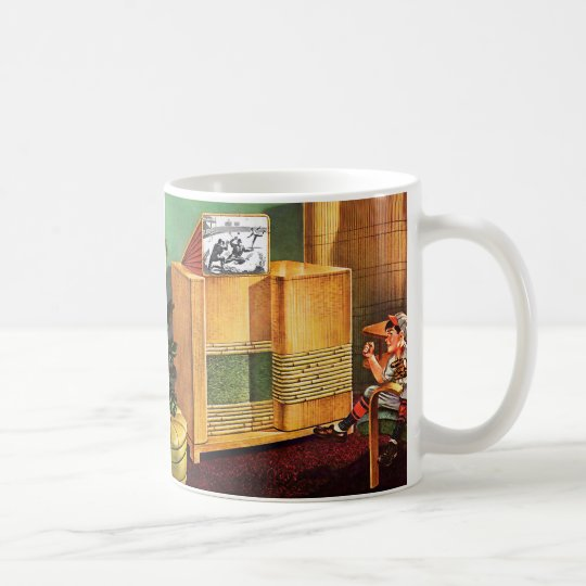 Retro Vintage Kitsch TV Television Radio Coffee Mug