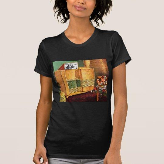 Retro Vintage Kitsch TV Television Radio T-Shirt