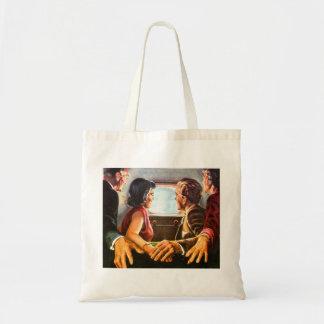 Retro Vintage Kitsch TV Televison Holding Hands Tote Bag