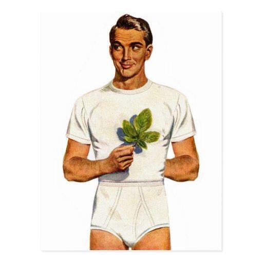Retro Vintage Kitsch Underpants Whitey Tighties Postcard