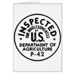 Retro Vintage Kitsch USDA Inspected Wholesomeness Card