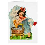 Retro Vintage Kitsch Valentine Worked Up A Fancy Greeting Card